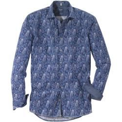 Olymp casual shirt, modern fit, Kent, Navy, S Olymp