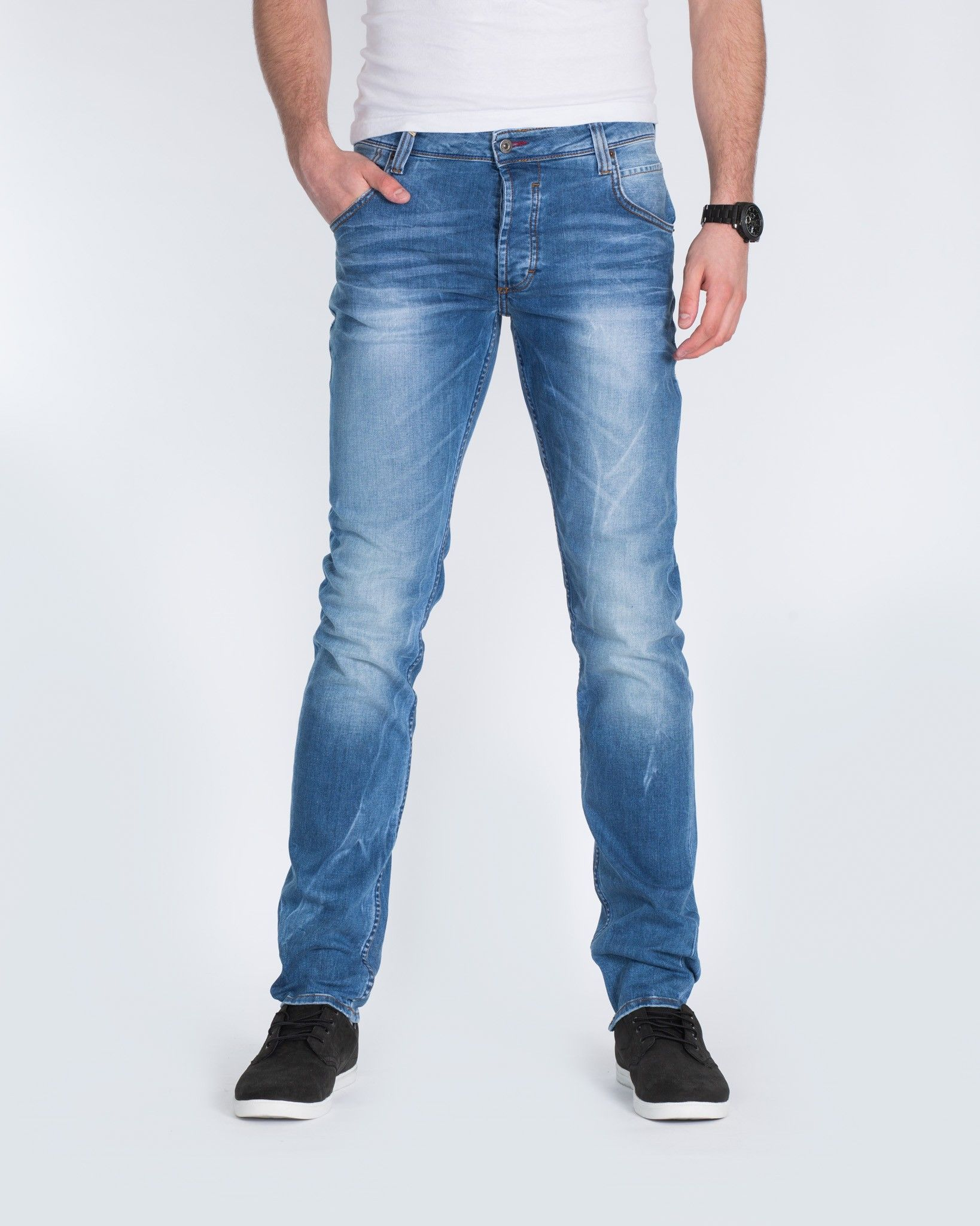 Mustang VEGAS - Vaqueros slim fit - denim blue abbDs2HK
