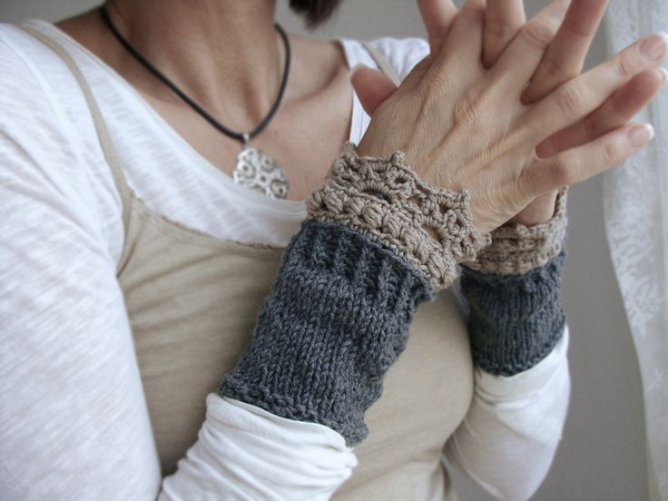 Photo of Instructions for arm warmers – as an infographic by it's all KNITS on DaWanda.com