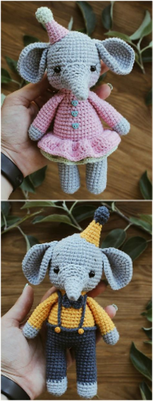Crochet Elephant Amigurumi Easy Video Instructions | Crochet | Pinterest