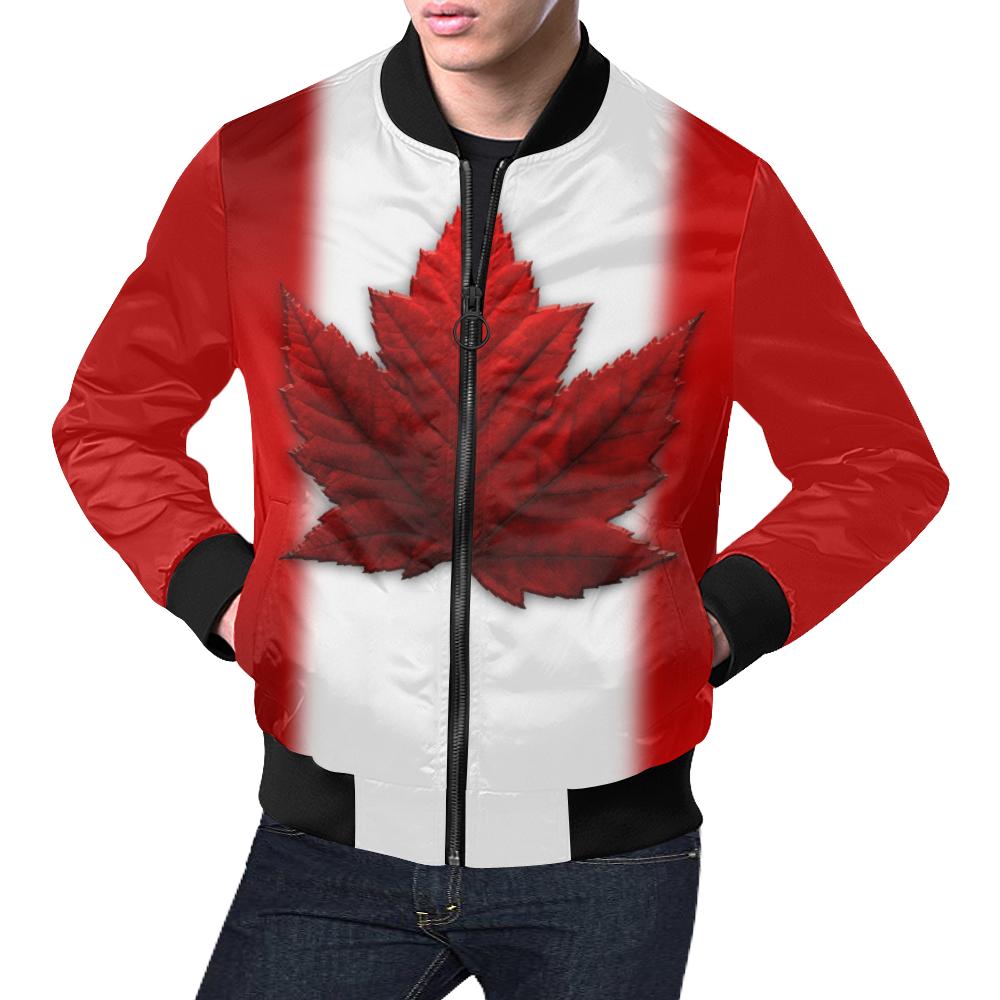 Canadian Flag Bomber Jacket Men's All Over Print Bomber