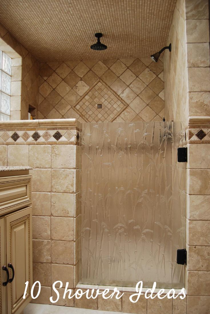 Shower Door Done With Bamboo Textured Glass Amazing Bathroom Shower Molding Ideas In 2020 Master Bathroom Shower Bathroom Remodel Shower Bathroom Shower Doors