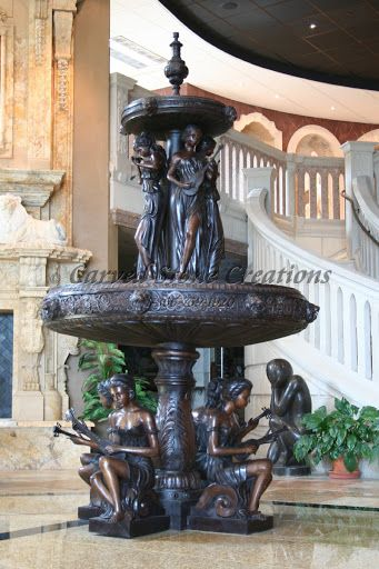 This Two Tier Fountain Is Made From Bronze Click On This Picture