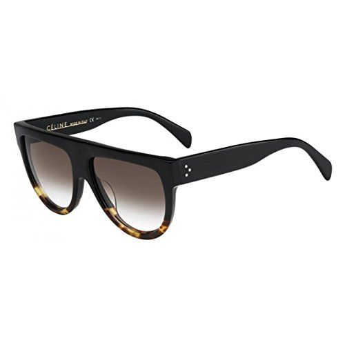 a4e5dbe6787d cool Celine Cl41026/S 58mm 100% Authentic Women's Sunglasses Black Havana  Tortoise Fu55i Check