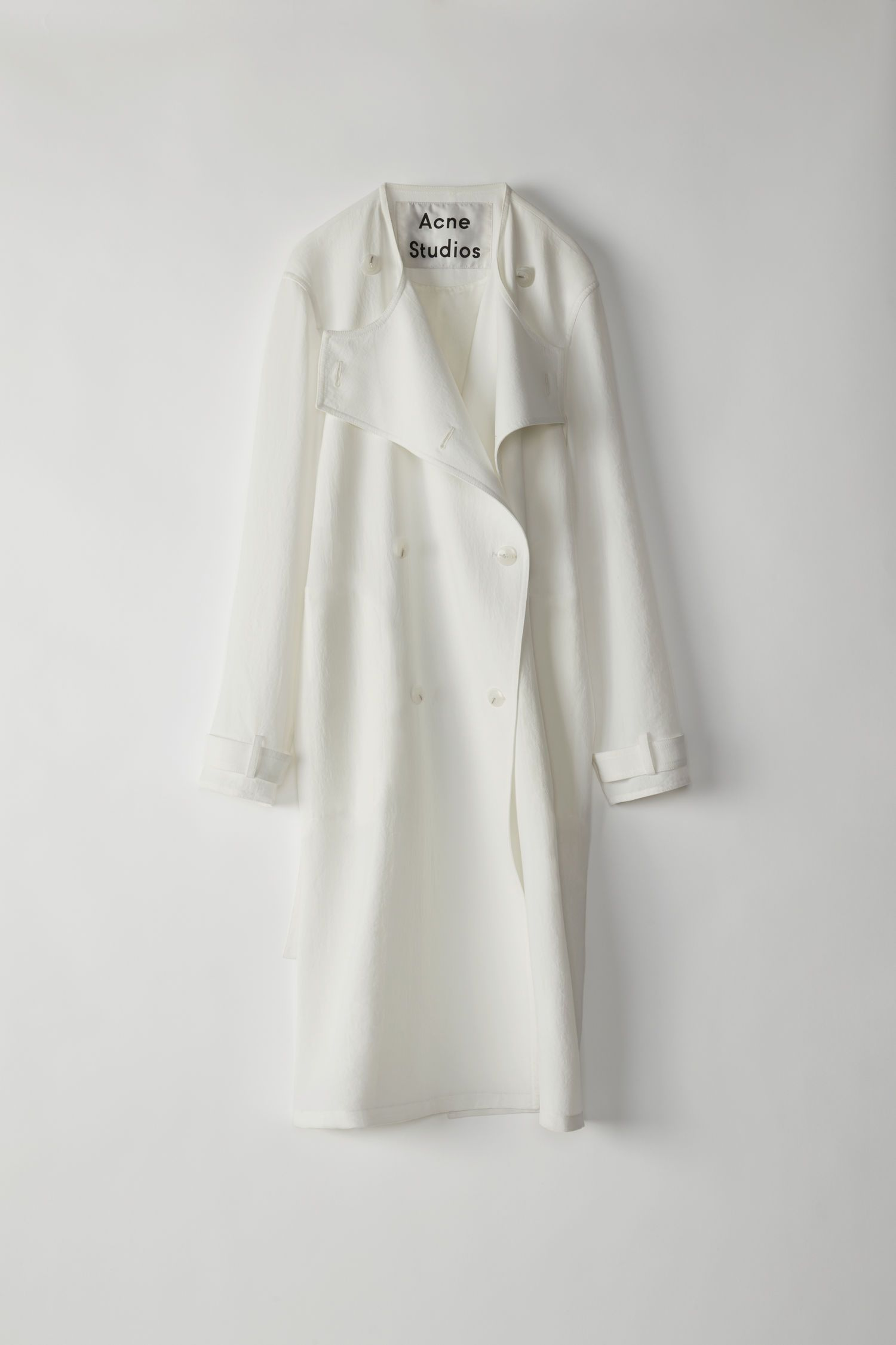 ae13f125153935 Acne Studios - Anghelica Twill white trench coat | COATS/JACKETS in ...