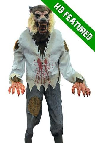 LURCHING WEREWOLF ANIMATED Halloween Decoration HorrorDome - zombie halloween decorations