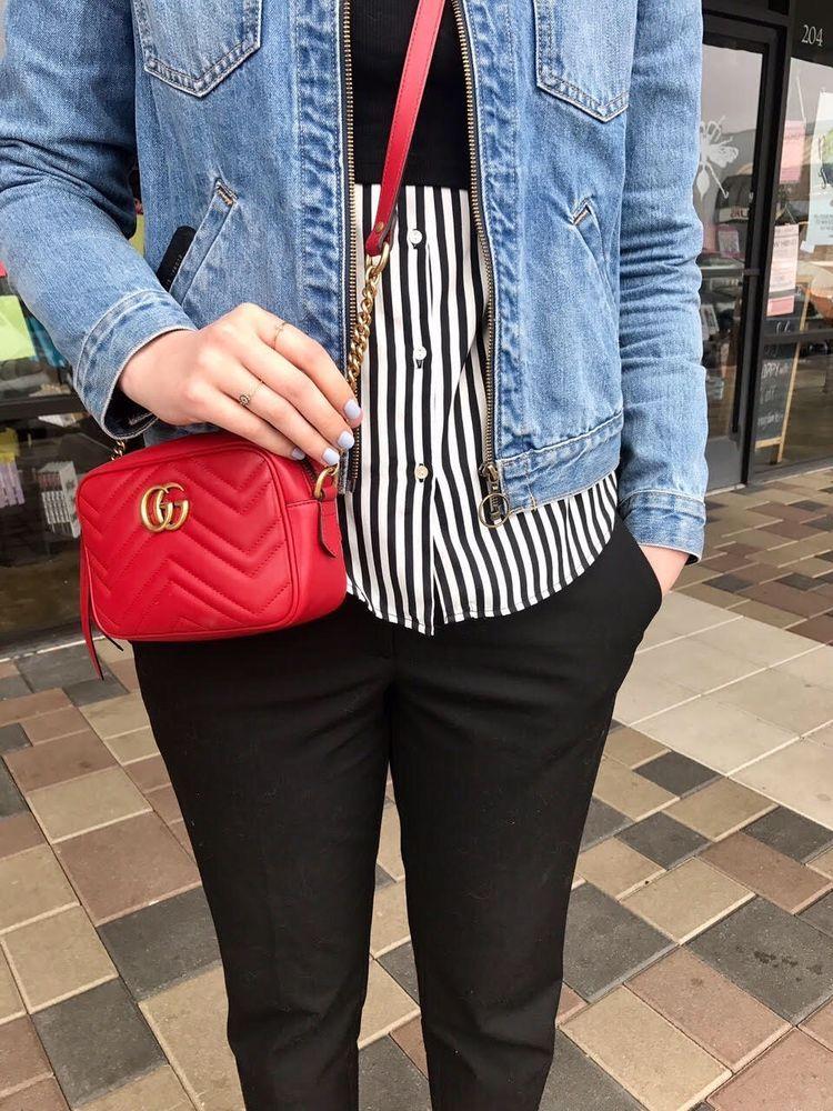 74048c12568a Gucci Marmont Gg Matelasse Mini Camera Leather Cross Body Bag ...