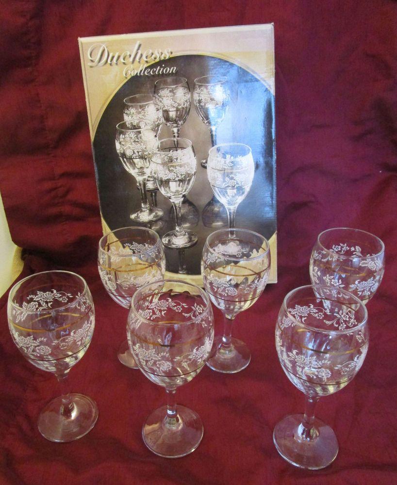 Pasabahce Duchess Collection 11 5 Oz Wine Glass Goblet Stemware Set 6 Unused Box Wine Glass Stemware Glass