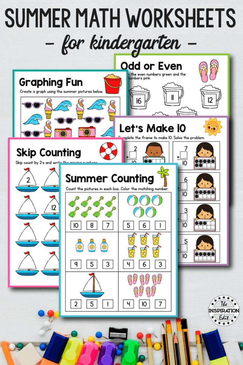 Summer Counting Printable For Kids Summer Preschool Activities Summer Math Worksheets Preschool Activities [ 1210 x 807 Pixel ]