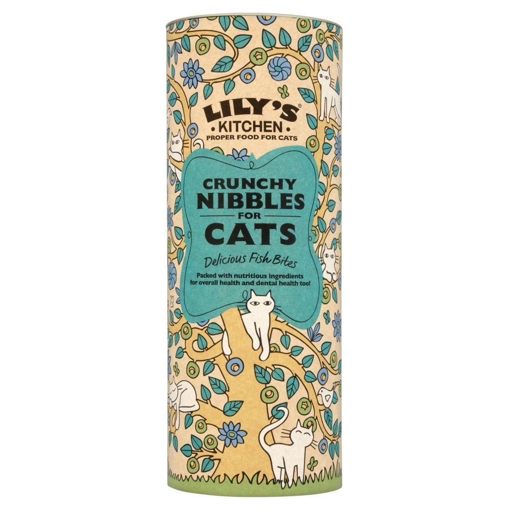 Lily\'s Kitchen Crunchy Nibbles for Cats with Fish 400g: Amazon.co.uk ...