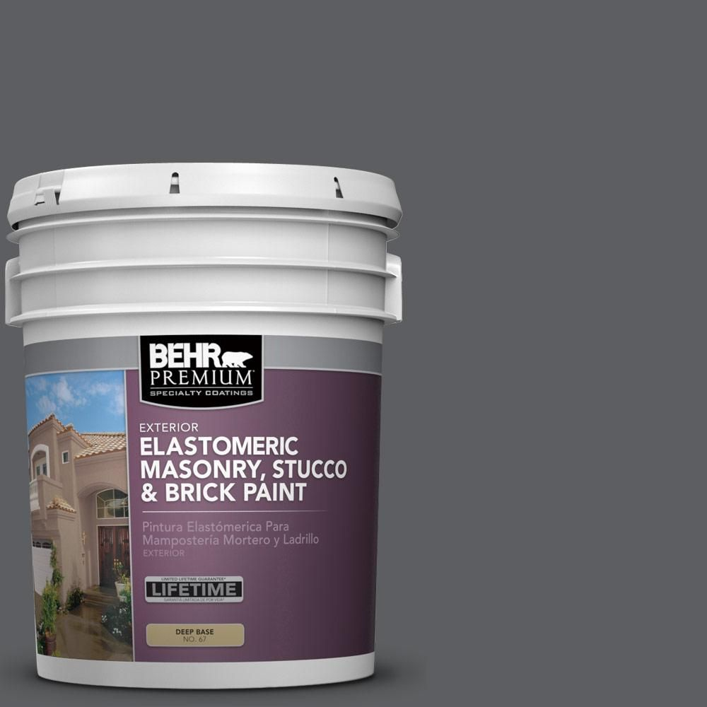 BEHR Premium 5 gal  #N500-6 Graphic Charcoal Elastomeric