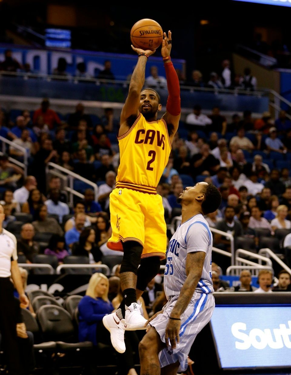 51c69f7fca66 Kyrie Irving shoots against Brandon Jennings during the first half Friday
