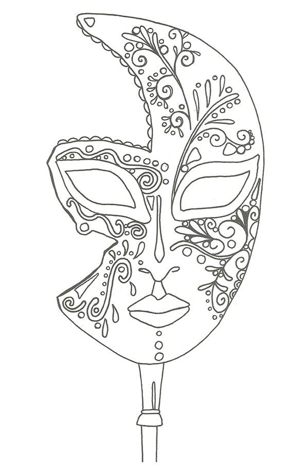 Coloriage masque de venise colorioage pinterest - Coloriage masque a imprimer ...