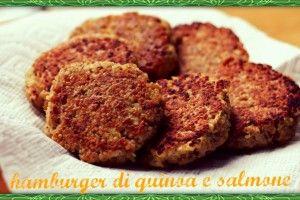 Hamburger di quinoa e salmone   Una cucina da single   Pinterest ...