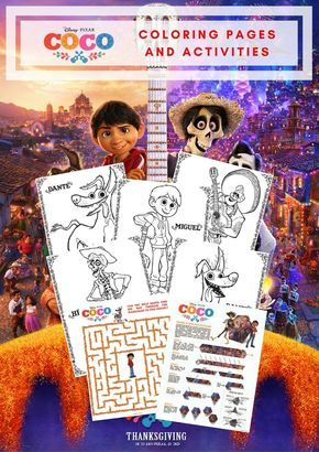 Free Printable Disney Pixar COCO Coloring Pages And Activity Sheets PixarCoco