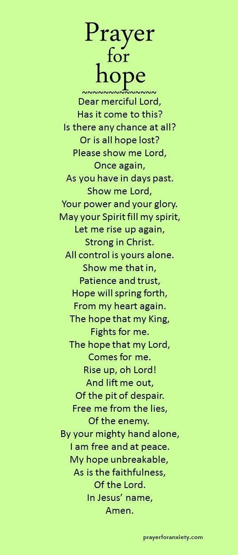 Prayer for hope   Trust god   Prayers for hope, Prayers, Faith prayer