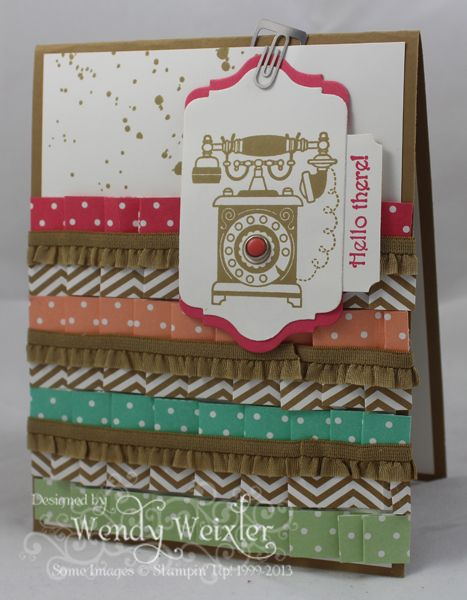 WMW In Color Pleats & Ruffles by Wendybell - Cards and Paper Crafts at Splitcoaststampers