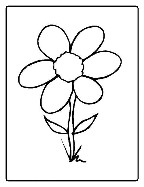 flower-coloring-pages | coloring pages for girl | Pinterest | Pintar ...