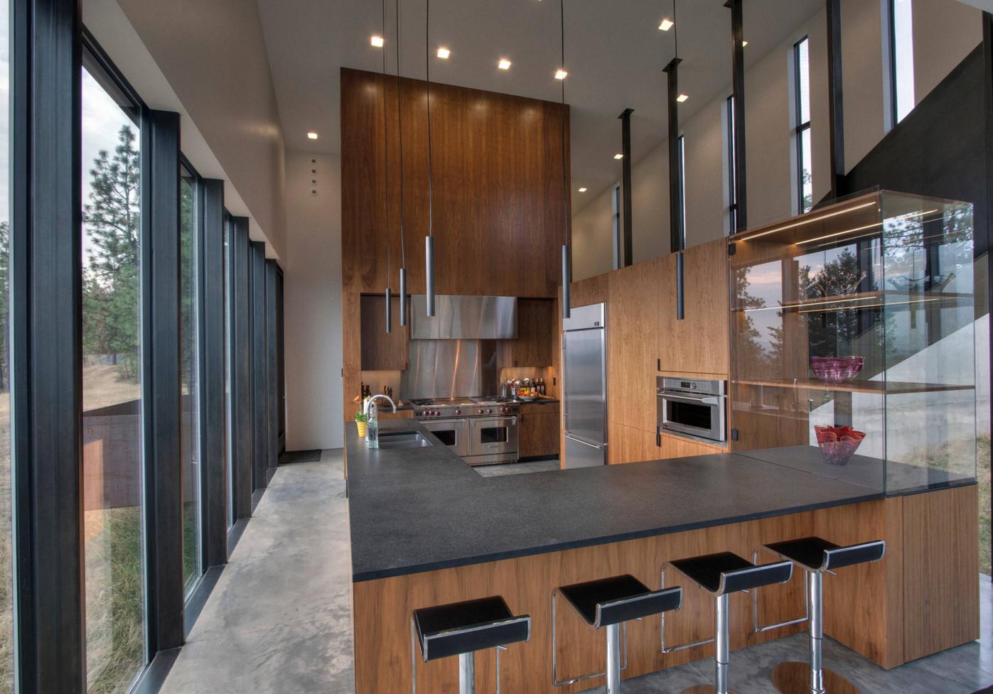 Das Herzstück jeder Kücheneinrichtungen sind Schiefer Arbeitsplatten ...