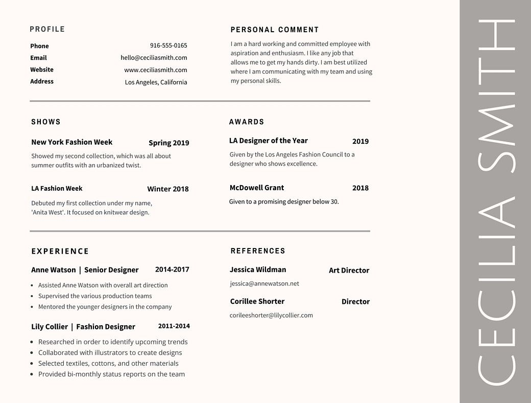 Design Tips From Canva.com Design School About Font Pairings And Design  Layout, And  Best Font To Use For A Resume