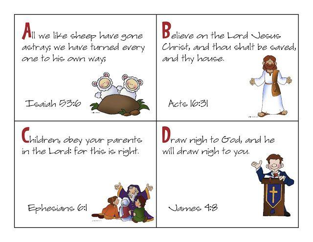 aussie pumpkin patch: kjv scripture cards free printable abcs