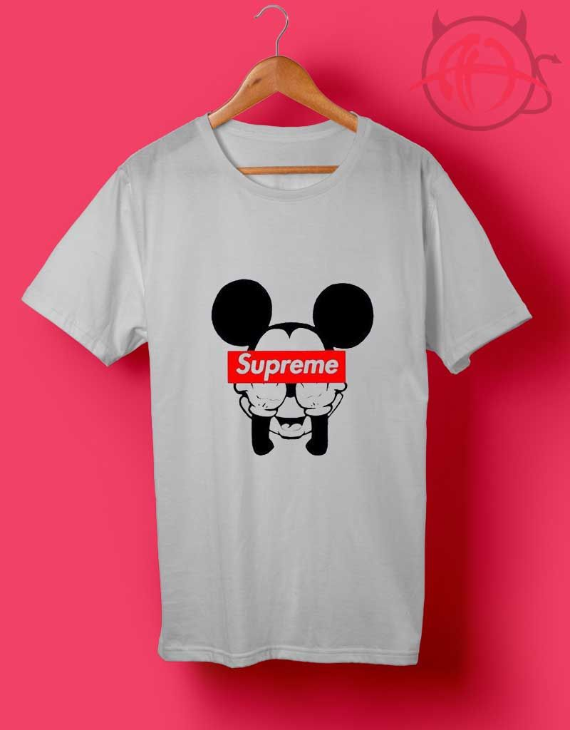 84fcd808 Mickey Mouse Supreme T Shirt //Price: $14.50 | Quotes T Shirt in ...