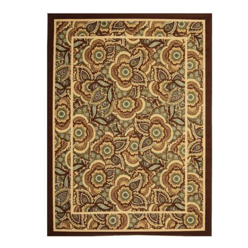 Jackson Blue And Brown Floral Area Rug 7x9 Floral Area Rugs Area Rugs Contemporary Area Rugs
