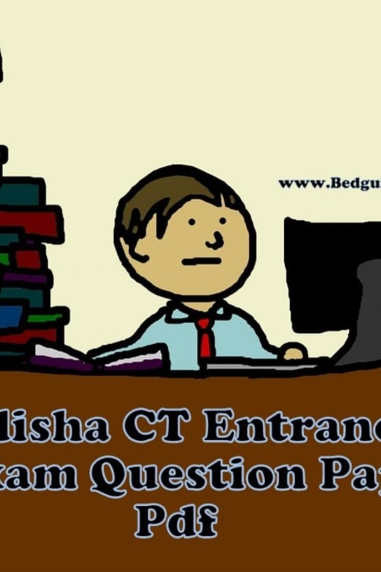 Odisha CT Entrance Exam Question Paper With Answers (2014