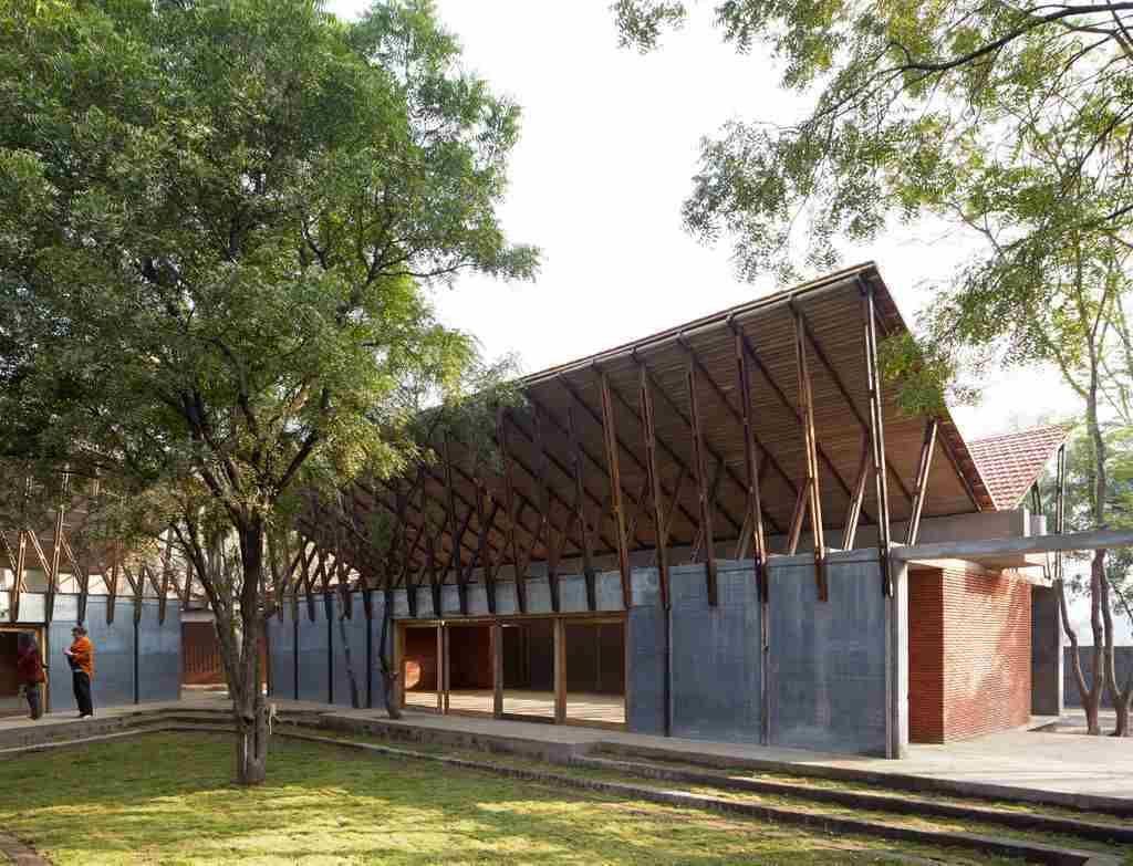 Jetavan Buddhist Learning Center Sameep Padora Brick Architecture Rammed Earth Walls Dung Flooring Architecture Roof Architecture Vernacular Architecture