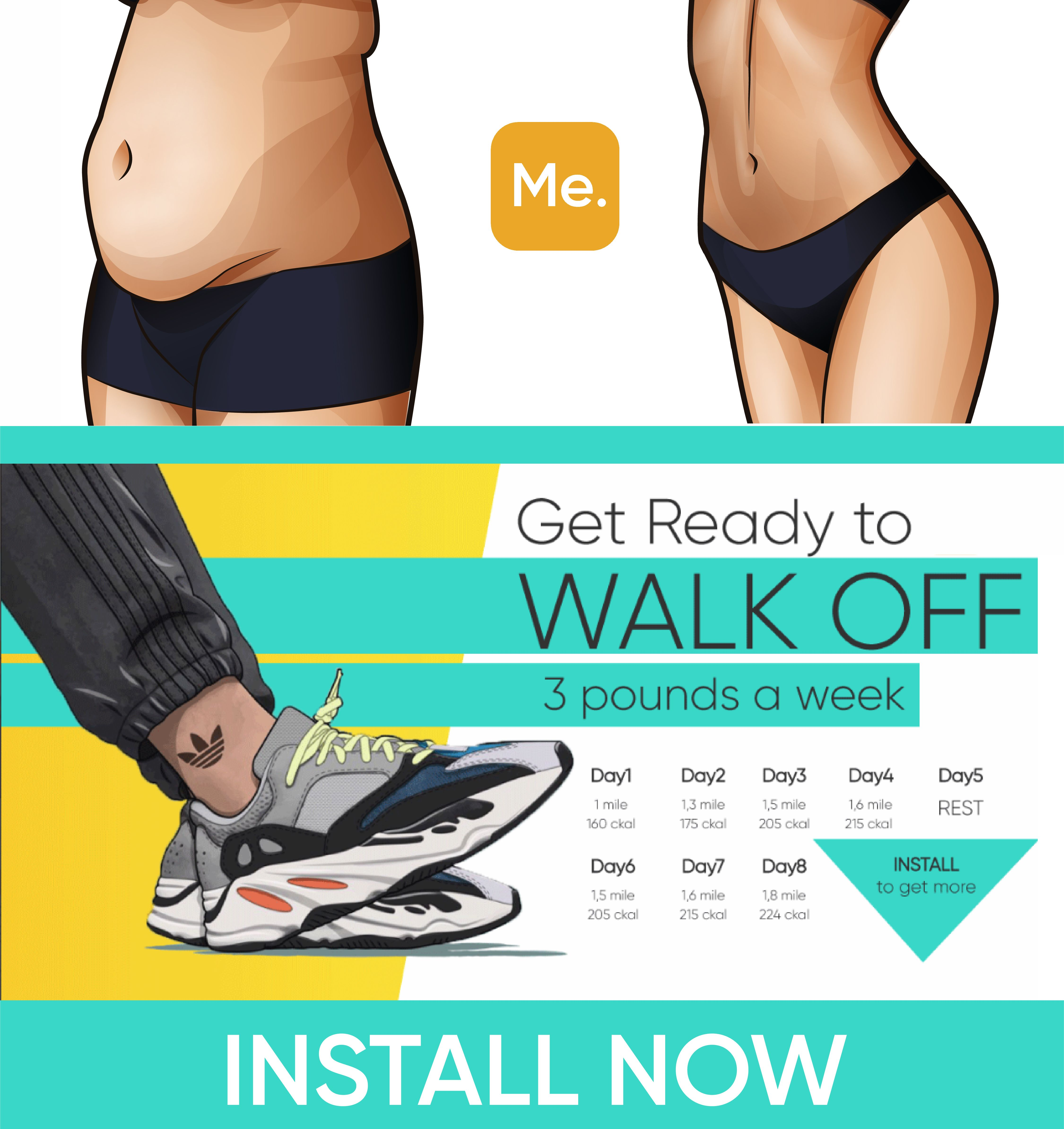 Get Ready to Walk - Lose 9 Pounds a Week  Workout, Healthy body
