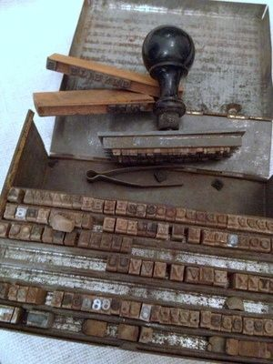 Here is a printing set being prepared for a printing press ...