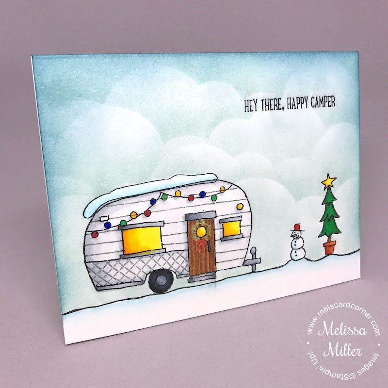 I\'m back today with another Christmas card. I created this card for ...