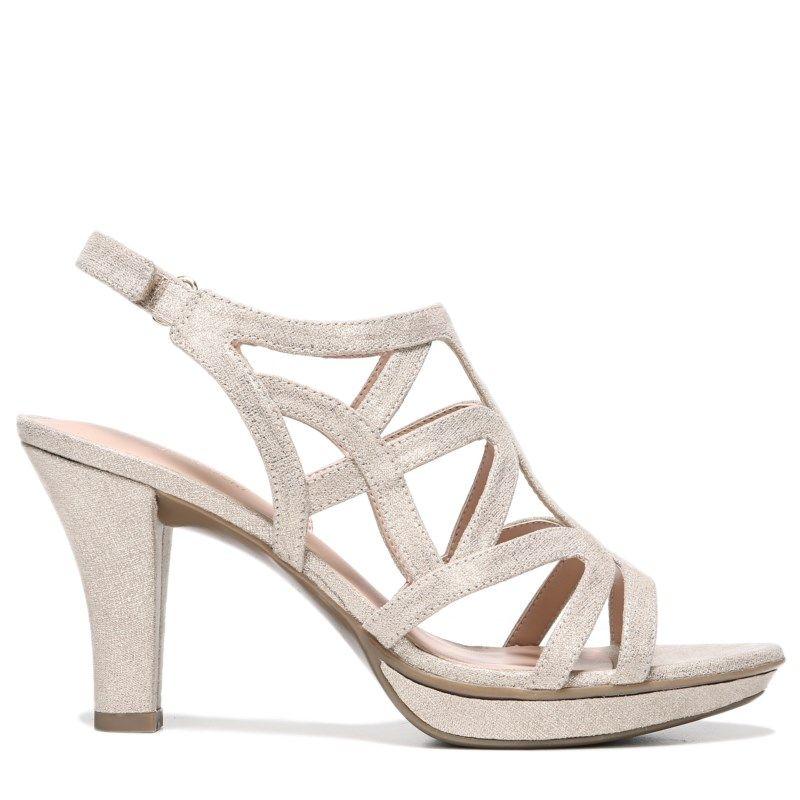 3227151c59b Naturalizer Women s Danya Narrow Medium Wide Dress Sandals (Taupe Gold  Metallic) - 12.0 M
