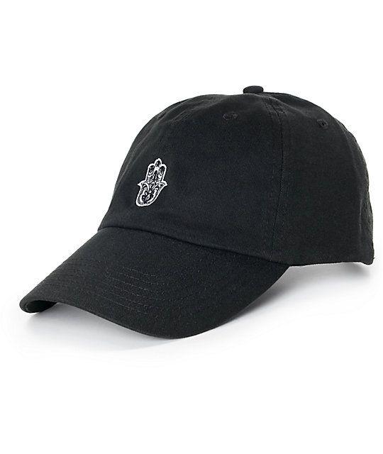 10924d82680 Empyre Solstice Black Hamsa Hand Baseball Hat