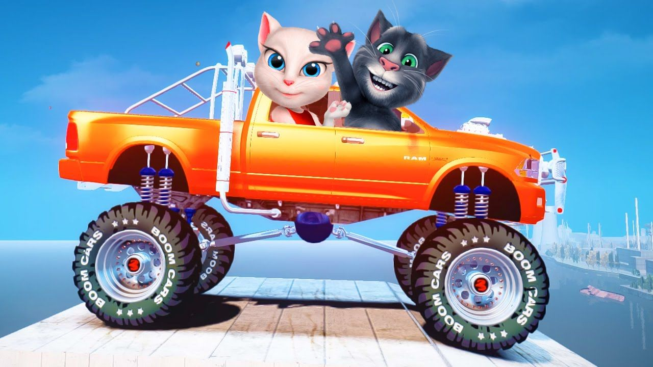 My Talking Tom Colors Monster Truck Colors Cartoon For Kids Nursery Rhymes Songs For Children Kids Songs Nursery Rhymes Songs My Talking Tom