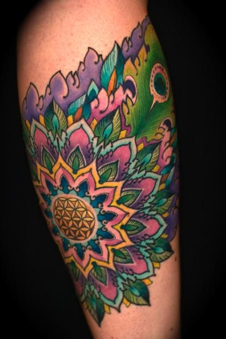 Peacock Mandala Flower Tattoo Ideas Mandala Tattoo Mandala