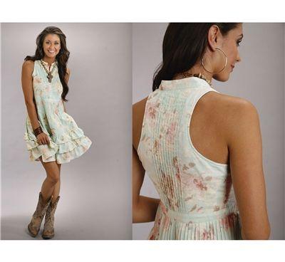 Stetson® Racer Back Floral Western Dress @ Renton Western Wear