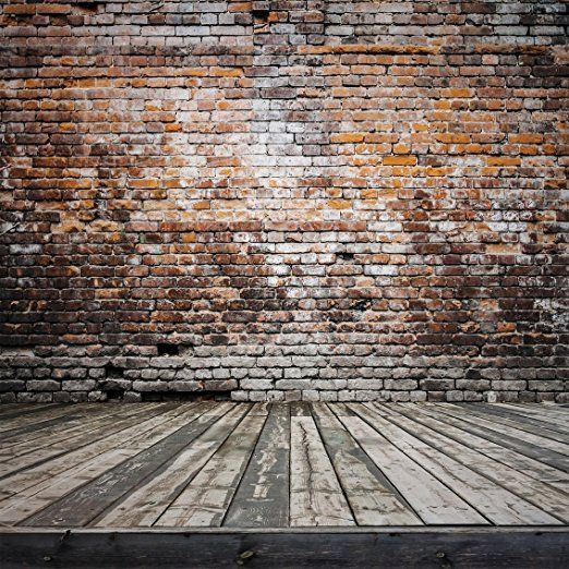 10x10 Ft Wood Floor Brick Wall Photography Backdrop No Splicing Backgrounds For Photo Studio Ft0077t Brick Backdrops Brick Wall Backdrop Wall Backdrops