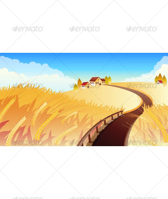 VECTOR DOWNLOAD (.ai, .psd) :: https://realistic.photos/article-itmid-1000122409i.html ... Field ...  autumn, background, farm, field, harvest, house, landscape, meadow, road, rye, sky, tree, vector, village, wheat  ... Vectors Graphics Design Illustration Isolated Vector Templates Textures Stock Business Realistic eCommerce Wordpress Infographics Element Print Webdesign ... DOWNLOAD :: https://realistic.photos/article-itmid-1000122409i.html