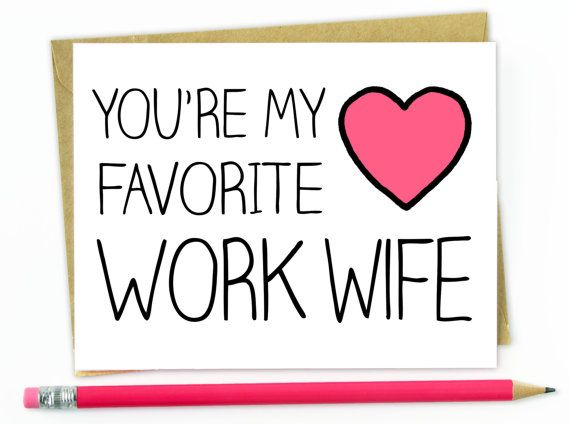 Coworker Gift Card For Co Worker Favorite Work Wife With