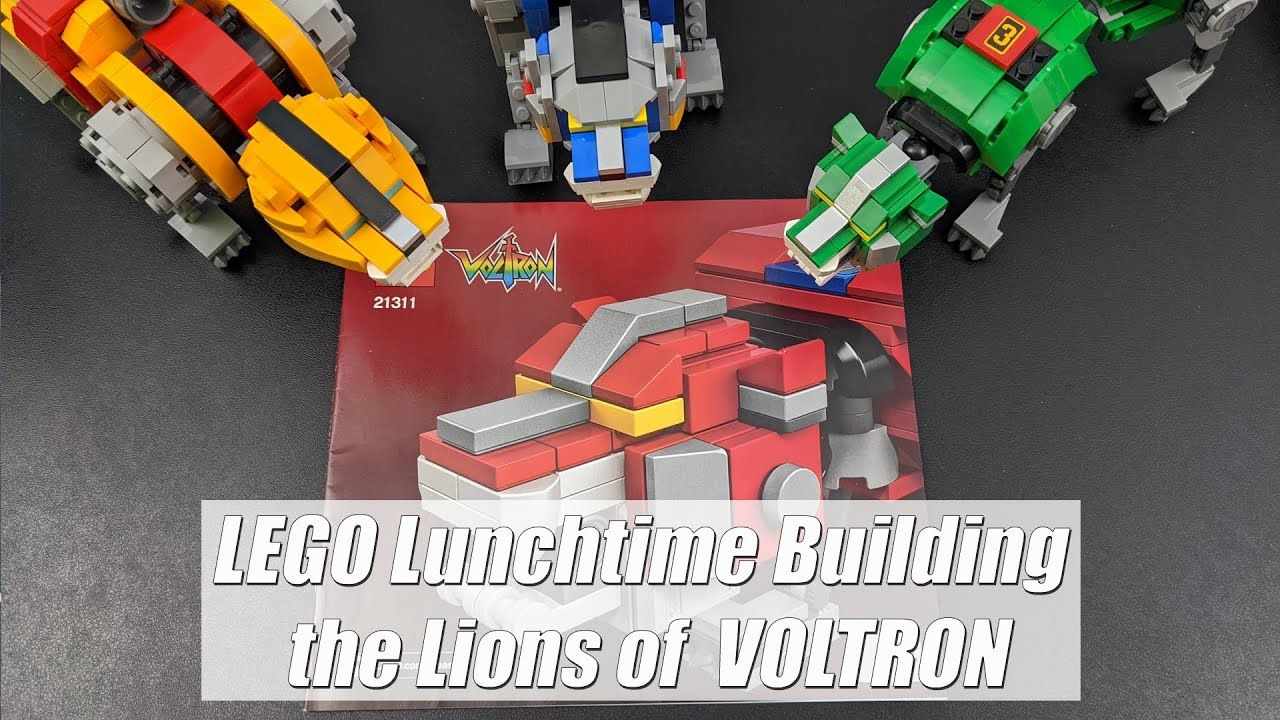 LEGO Lunchtime Building the Red Lion of VOLTRON