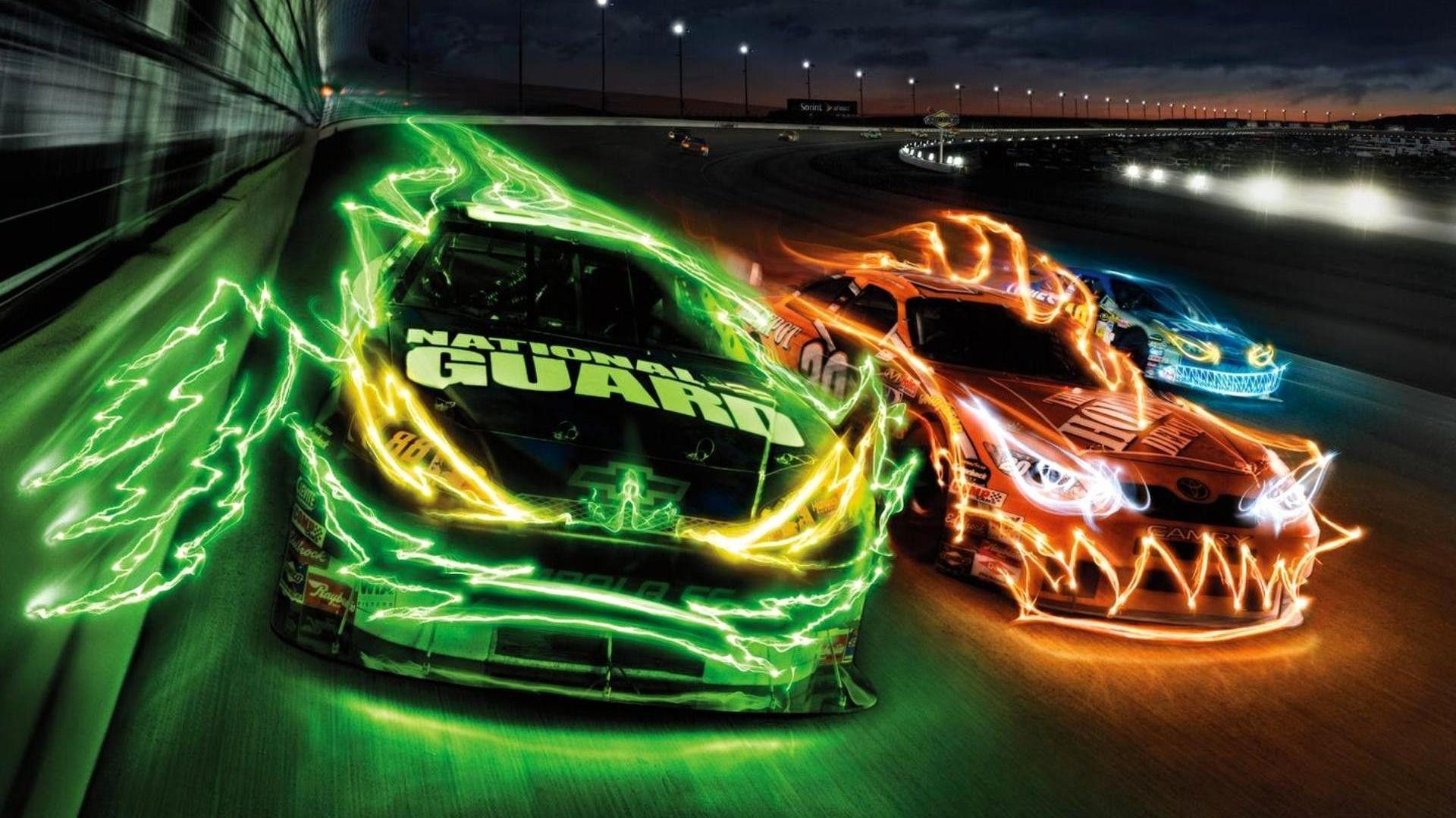 Cool Wallpaper Car Mywallpapers Site Neon Car Cars Music Nascar