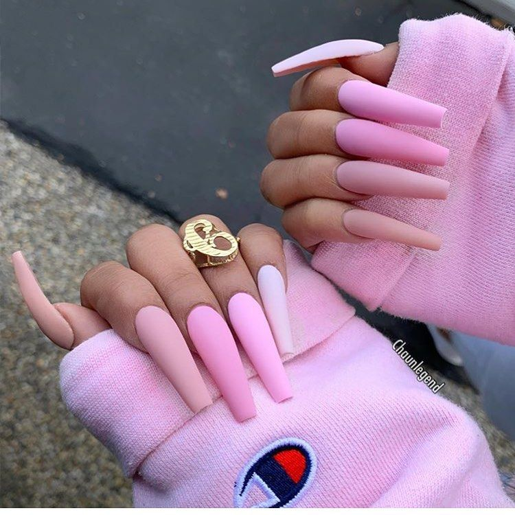 30+ Awesome Pink Acrylic Nails Designs That You Must Know - VOGUESIMPLE