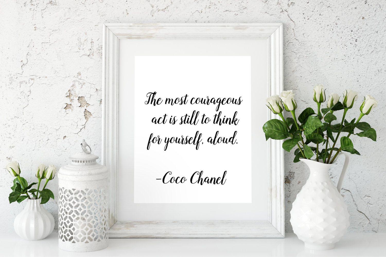 Coco Chanel Quote Fashion wall art Fashion quotes Chanel Printable ...