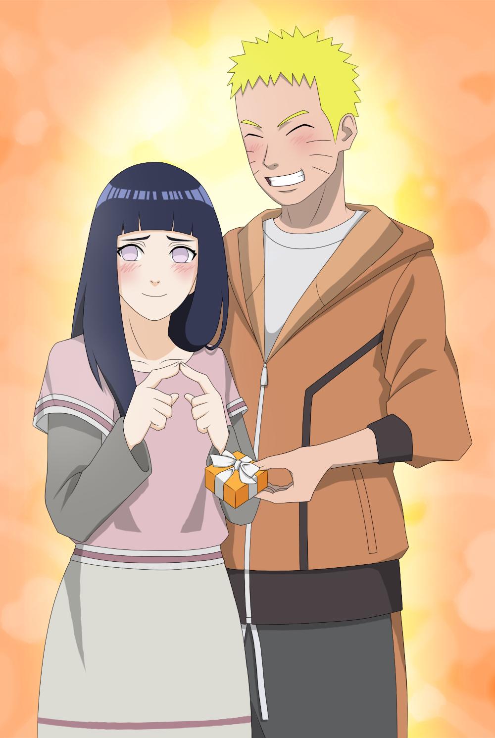 naruto give a gift to hinata | Naruto | Pinterest | Naruto and ...