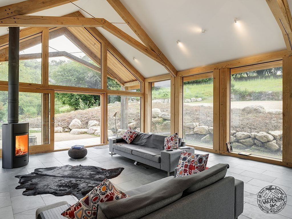 Green oak extension shortlisted for build it awards for Structural steel home designs