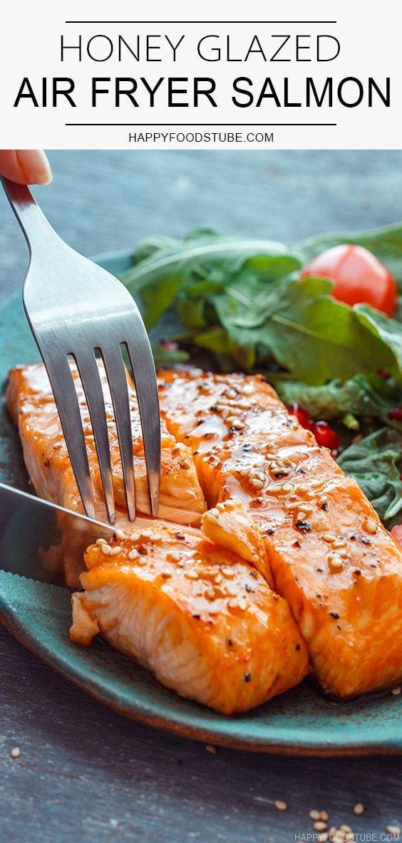 Honey Glazed Air Fryer Salmon - Happy Foods Tube