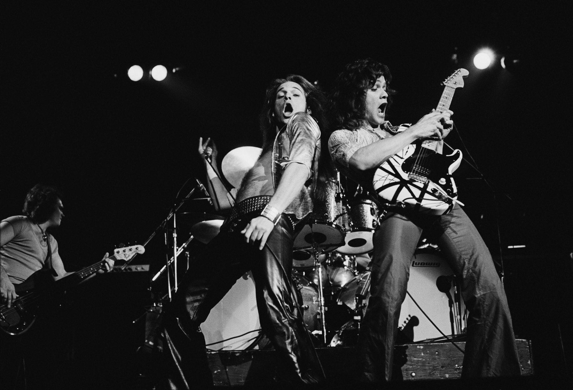 Pin By Annie Leonard On Rock Of Ages Set Van Halen Eddie Van Halen Rock Bands