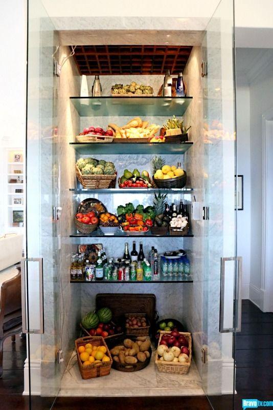 Walk In Refrigerator Foster House Yolanda Foster Glass Refrigerator