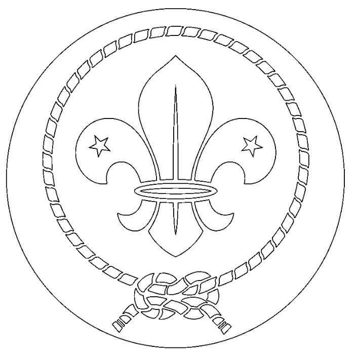 Image Result For The World Scout Emblem To Colour Page With